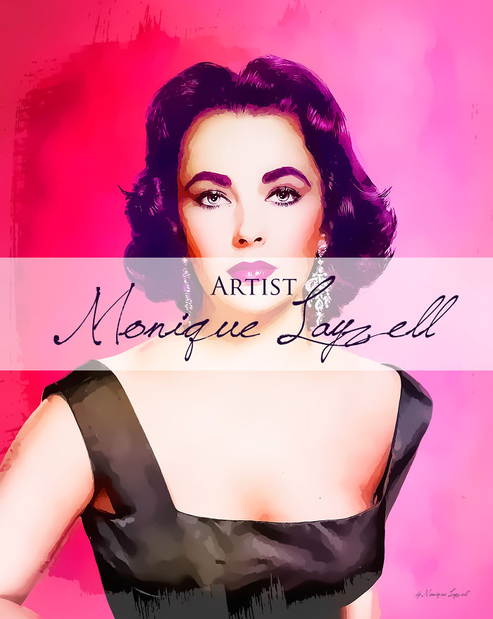 Elizabeth Taylor Art By Monique Layzell©