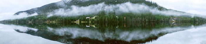Foggy Skjeppsjøen Lake