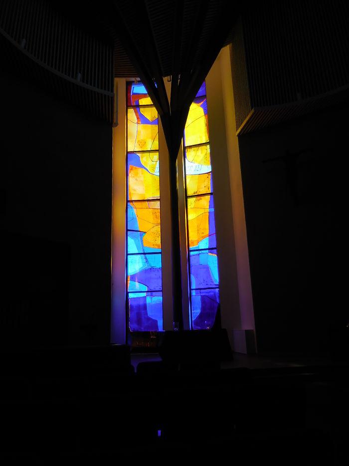 Church Window In Geilo