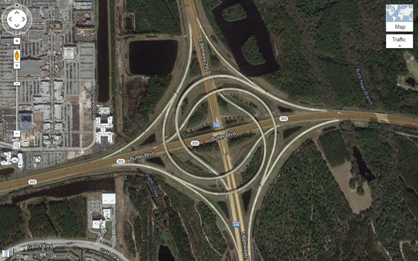 This Perfectly Symmetrical Highway Interchange