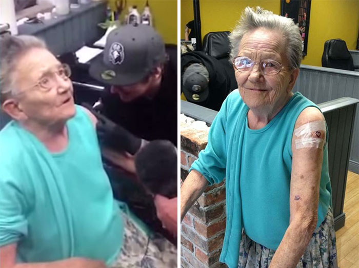 79-Year-Old Grandma Who Went Missing Was Found Getting Her First Tattoo