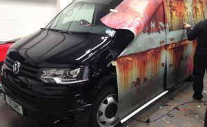 New Car Covered In Rust Camouflage To Protect It From Thieves