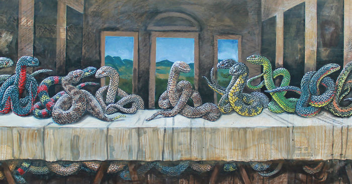 Snakes Invade Great Moments In Art History | Bored Panda