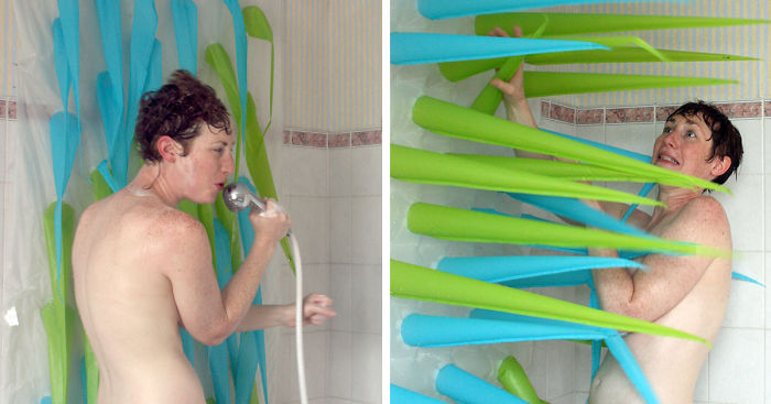 Spiky Shower Curtains Kicks You Out After 4 Minutes To Save Water