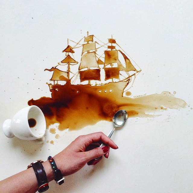 Spilled Food Turned Into Beautiful Art By Giulia Bernardelli