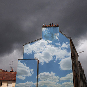 I Put Cloud Prints On Buildings To Brighten City Streets