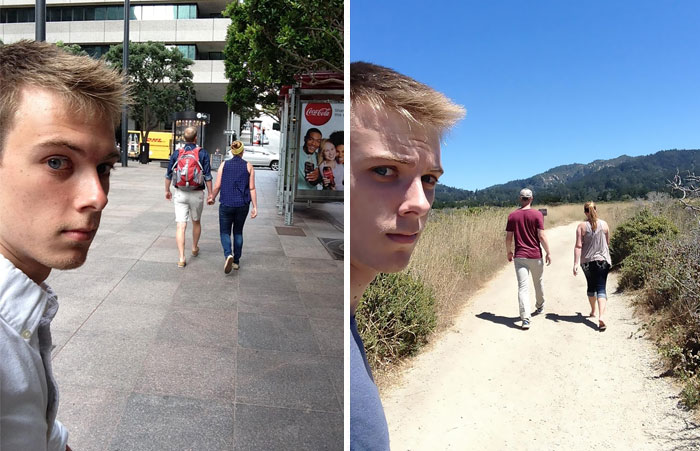 Man Documents His Life As The Third Wheel For 3 Years In Awkward Selfies