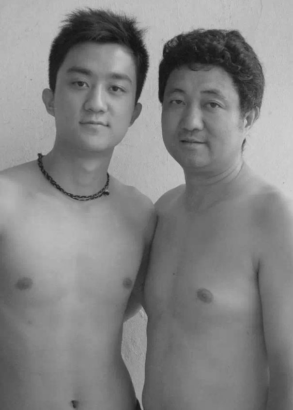 Dad and son naked