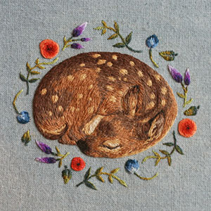 New Embroidered Animals By Chloe Giordano
