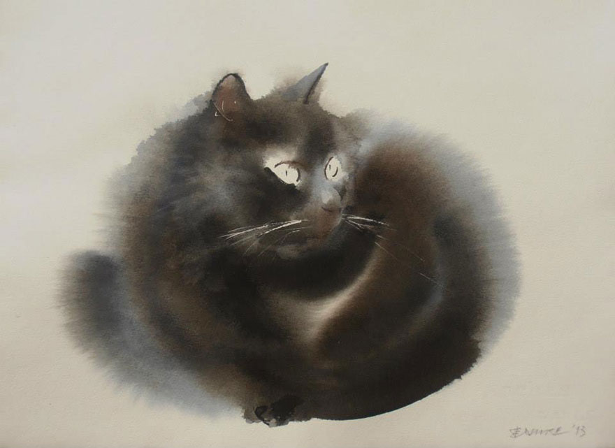watercolor-cats-ink-paitings-endre-penovac-10