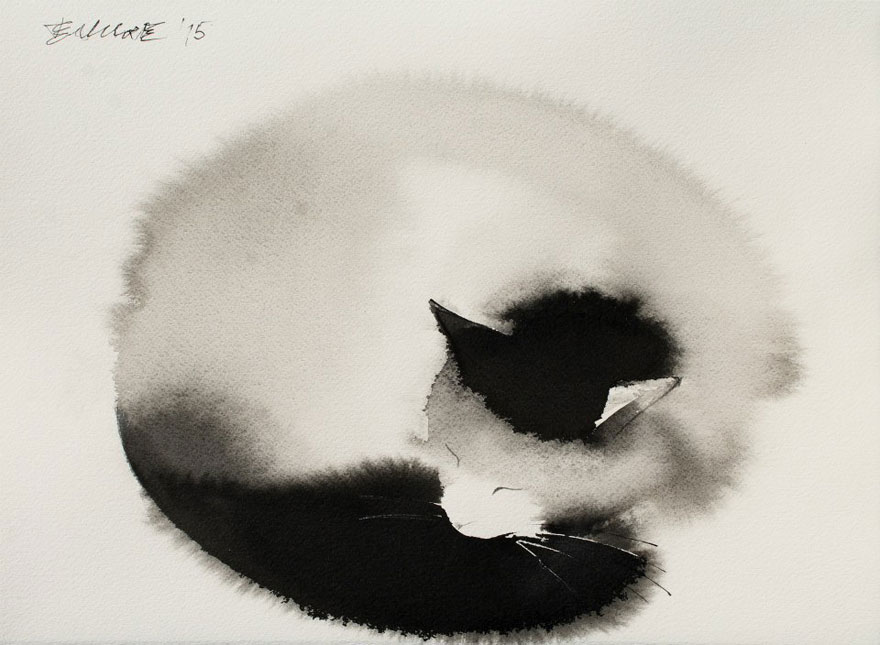 watercolor-cats-ink-paitings-endre-penovac-15