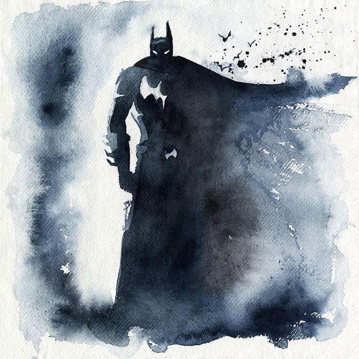 I Watercolor Superheroes With Big Splashes