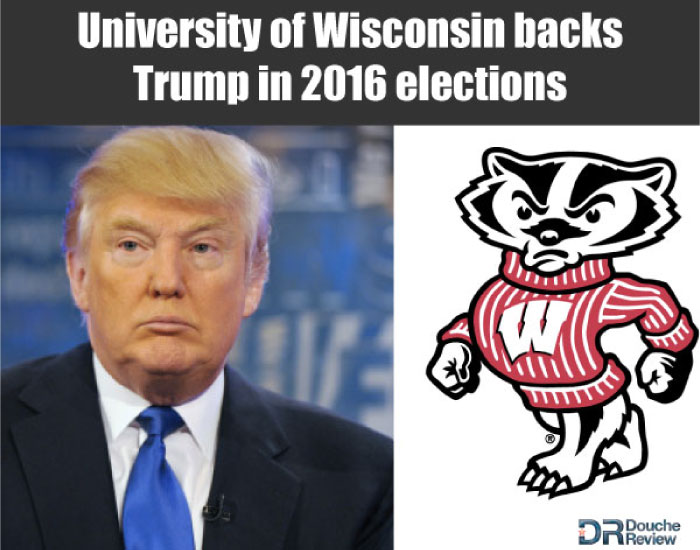 Wisconsin Badgers Support Trump