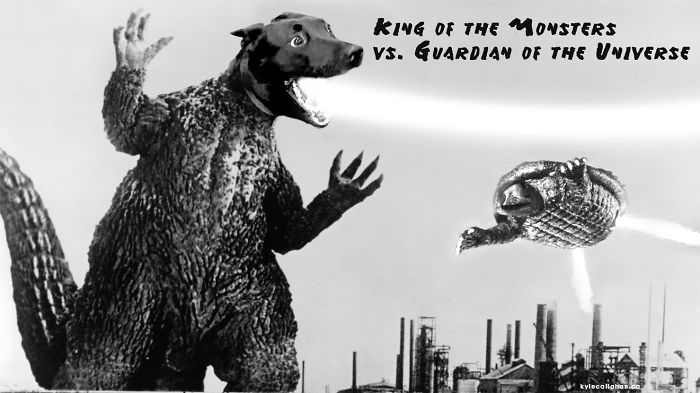 King Of The Monsters Vs. Guardian Of The Universe