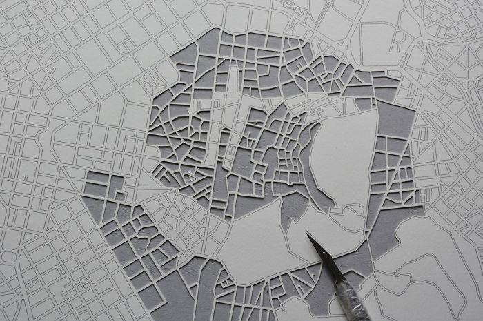 Lithuanian Artist Makes Incredibly Detailed Paper Cuts Of City Maps