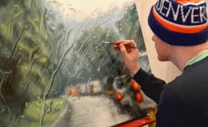 Rainscapes: My Rainy Windshield Paintings On Canvas