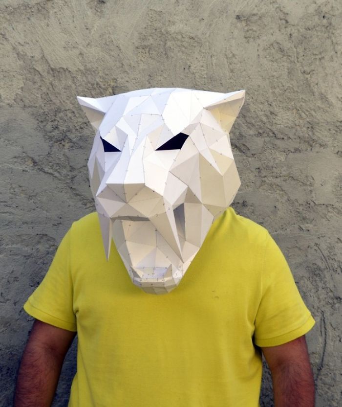 Make Your Own Geometric Animal Mask