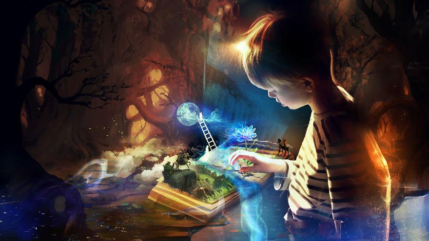خلق چشم اندازهای زیبا با الهام از رویاهای کودکی