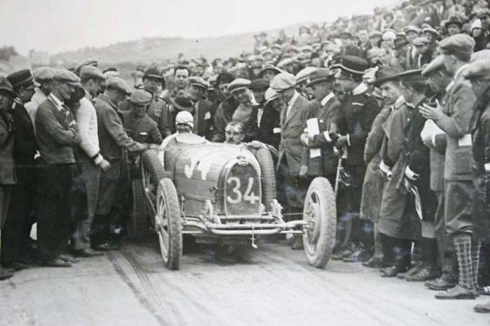Eliska Junkova: Czech Automobile Racer In Her Bugatti. One Of The Greatest Grand Prix Drivers.