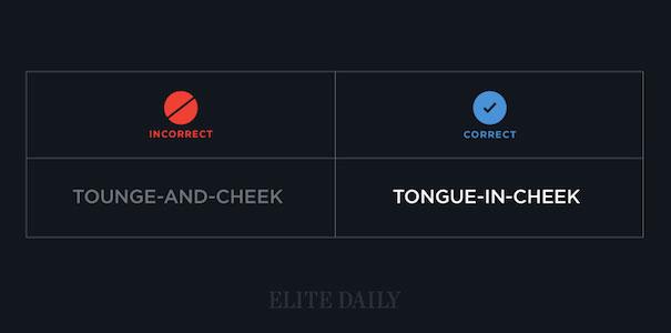 Tongue-in-cheek