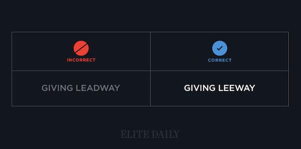 Giving Leeway