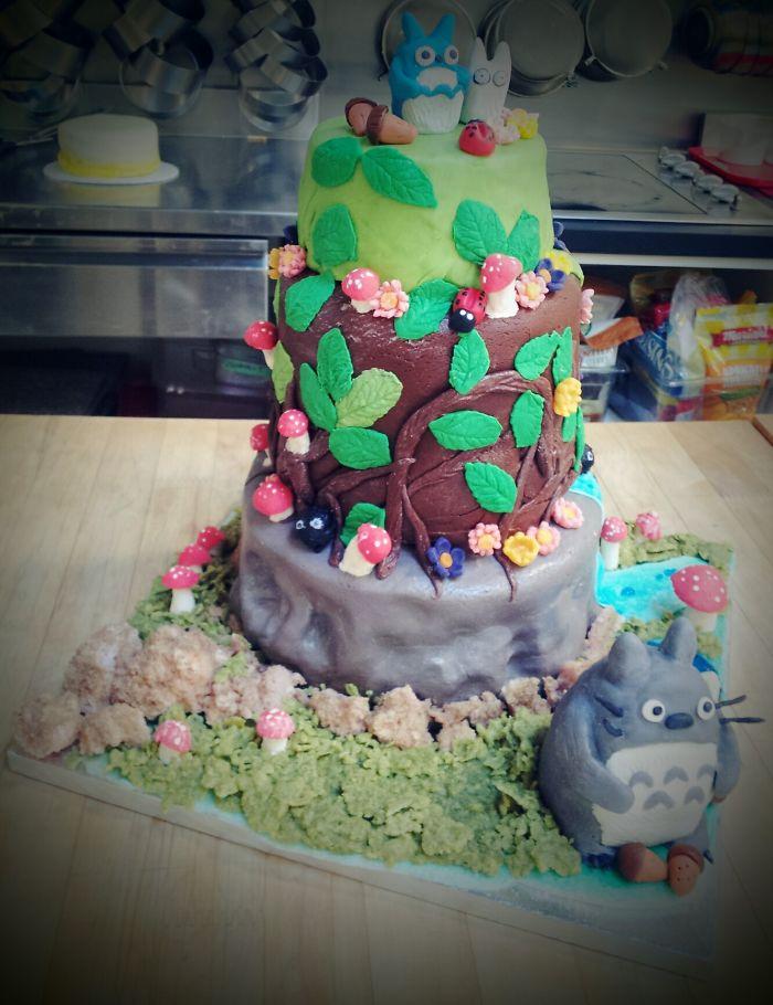 Totoro Celebration Cake