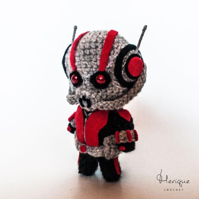 I Made A Cute Little Crochet Ant-man