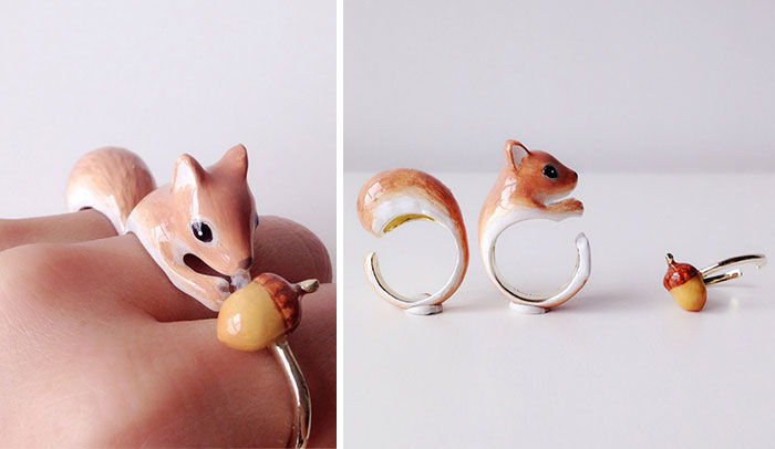 Rings Become Animals When 3 Pieces Are Put Together