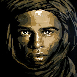 Artist Uses Packing Tape To Create Beautiful Portraits Of Moroccan People