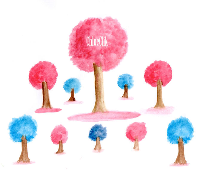My Colourful Watercolour Trees Spread Happiness And Raise Awareness Of A Terrible Illness