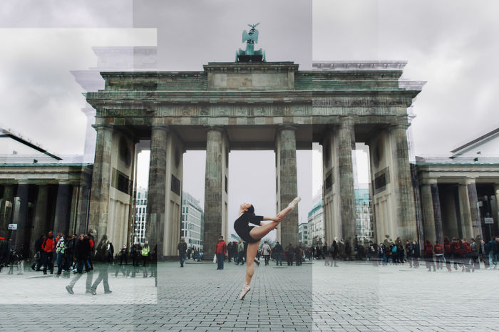 East And West Berlin With A Ballerina