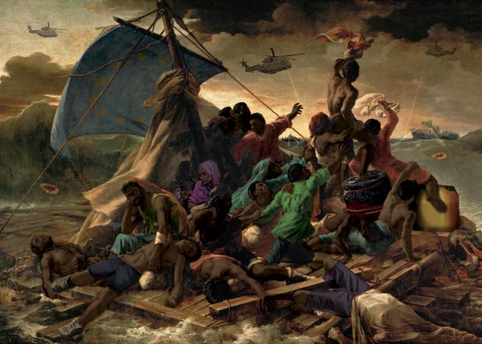 """What If """"le Radeau De La Meduse"""" Was Painted In 2015"""