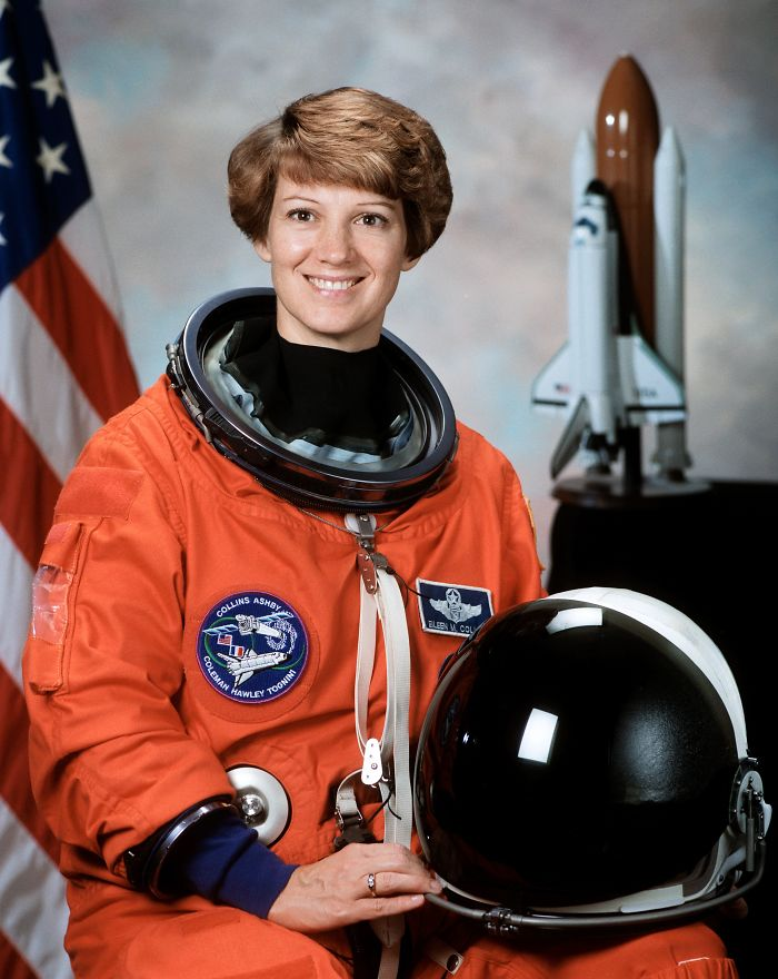 Commander Eileen Collins, First Female Space Shuttle Pilot And Mission Commander.