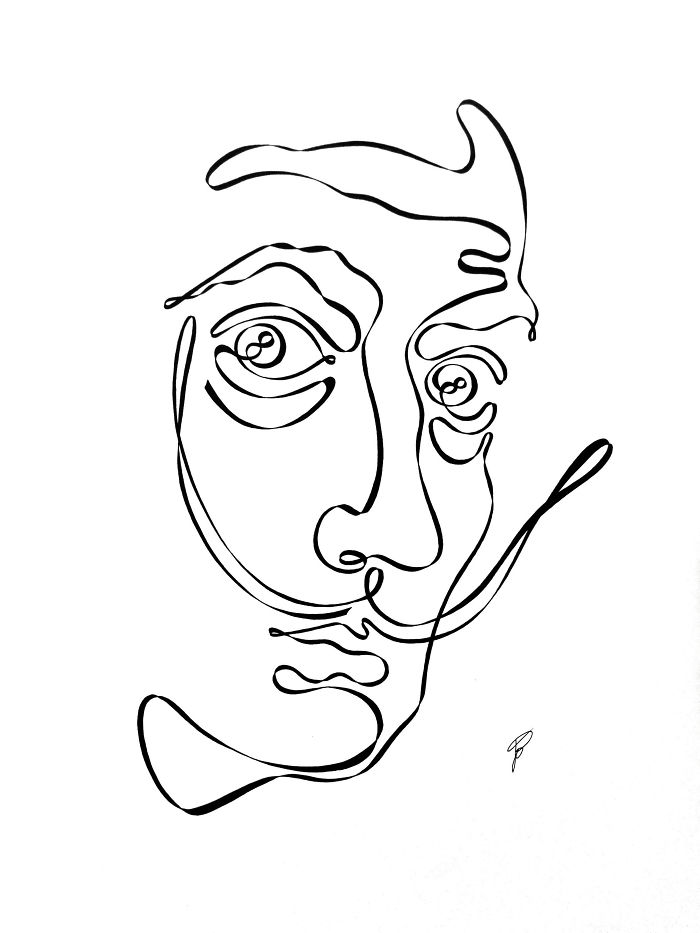 I Drew These Illustrations Using One Continuous Line