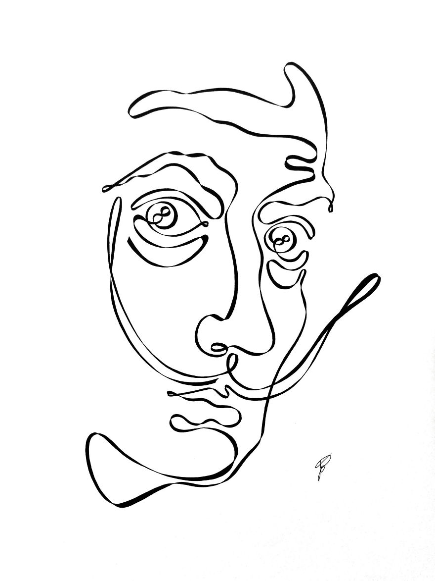 Simple Continuous Line Art : I drew these illustrations using one continuous line