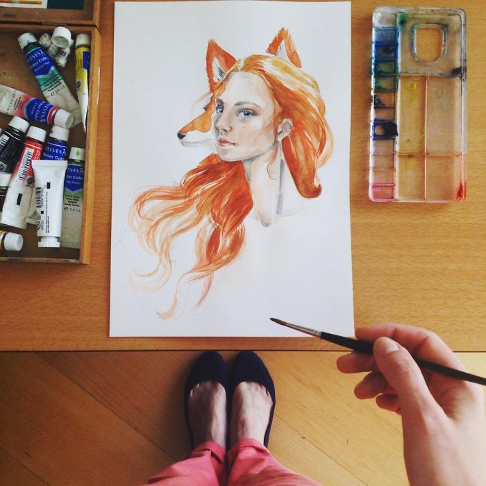 Portuguese Architect, Ballet Teacher And Illustrator Captures Her Life From Above