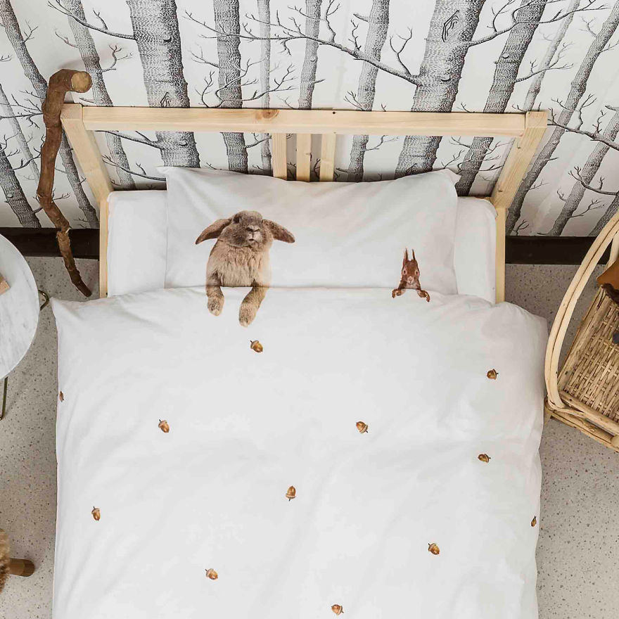 Ready For Your Winter Sleep? 'furry Friends' Bedding By Snurk, 100% Cotton