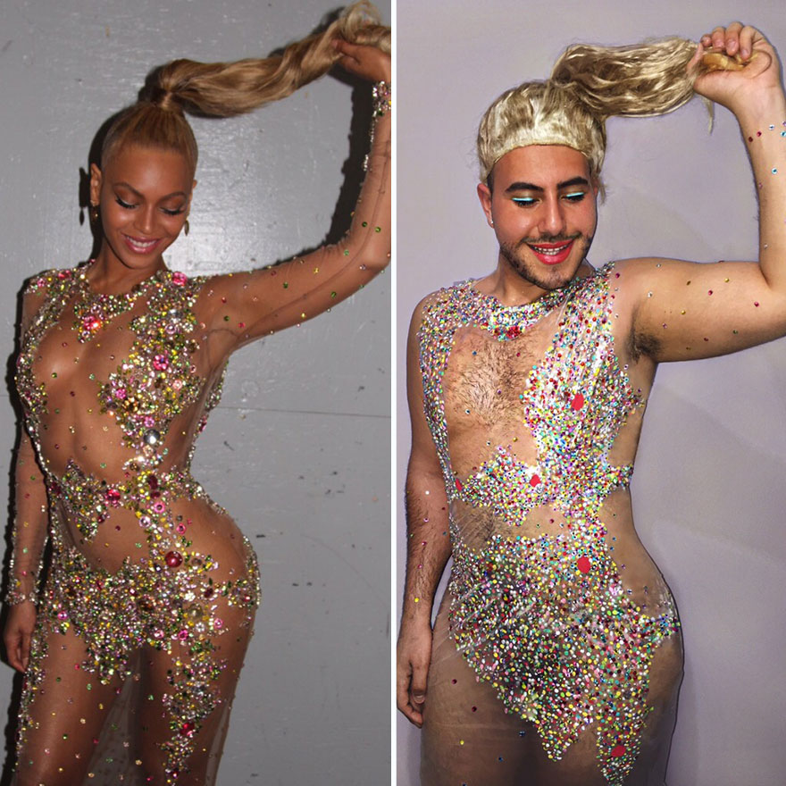 I Recreate Celebrity Fashion From Garbage Bags And Shower Curtains