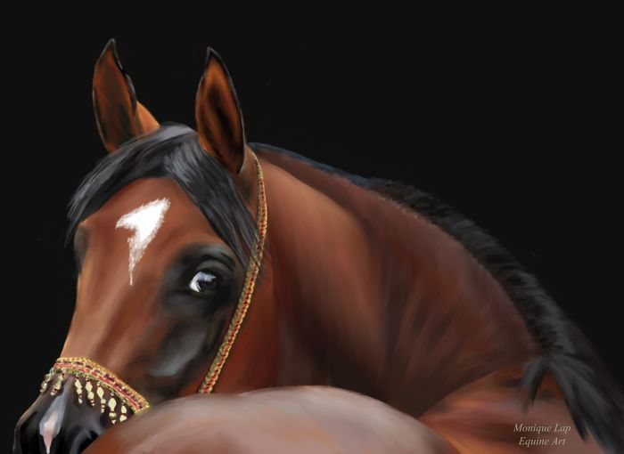 I Create Digital Horse Paintings
