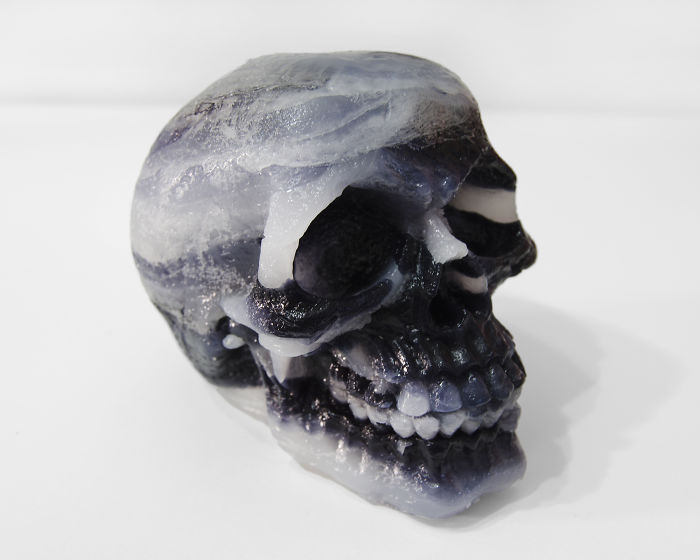 I Made Skull Sculptures With Melted Wax