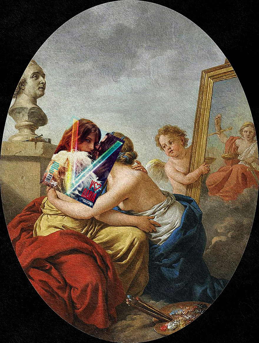 I Do Mash Ups Of Magazine Covers And Classical Paintings