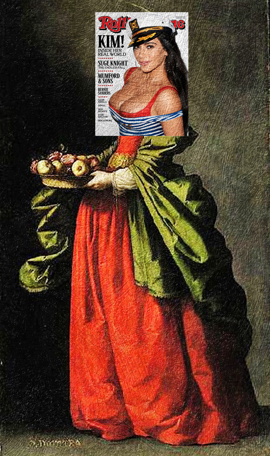 I Do Mash-Ups Of Magazine Covers And Classical Paintings ...