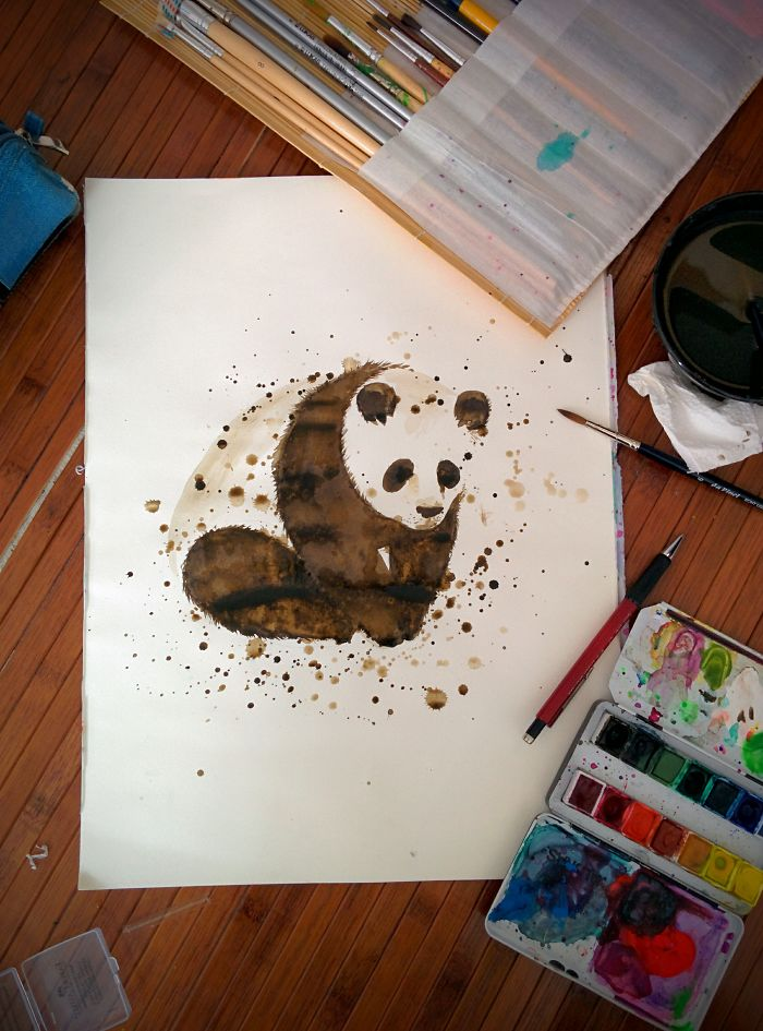 My Watercolor Panda Illustration