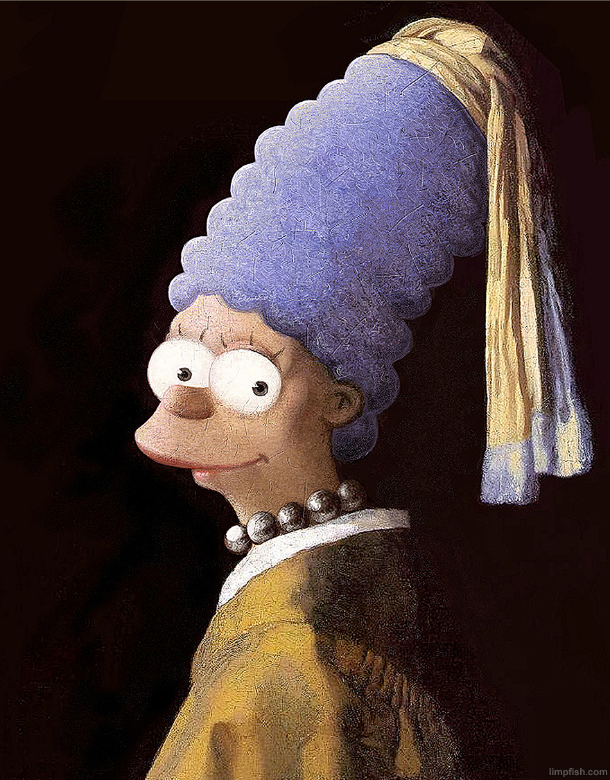 Vermeer's Marge With A Pearl Necklace