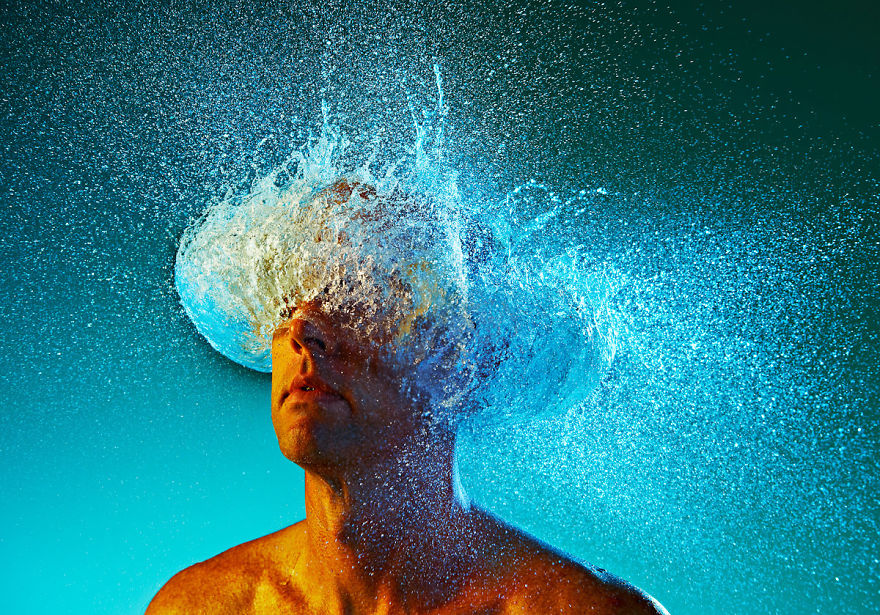 Incredible Water Wigs Done With Exploding Water Balloons