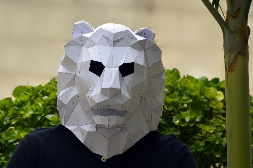 Make Your Own Geometric Animal Mask | Bored Panda