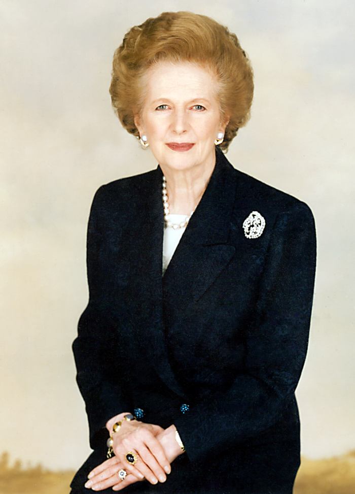 Margaret Thatcher United Kingdom Prime Minister.