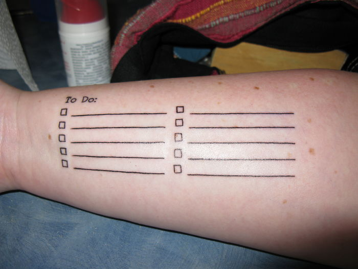To Do List For Functional Tattoos!