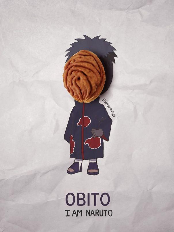 I Create Naruto Illustrations Using Everyday Objects