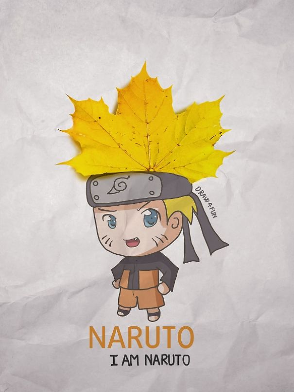 I Create Naruto Illustrations Using Everyday Objects